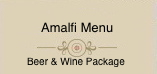 Amalfi Private Dining Menu