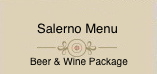 Salerno Private Dining Menu